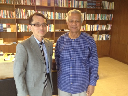 photo with Prof Yunus in 2014